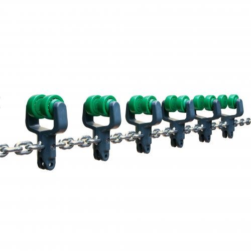 Galv. chain with click trolleys   OC.12.520