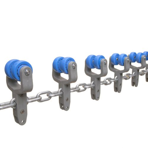 Galv. chain 8x38mm with trolleys   OC.60.520