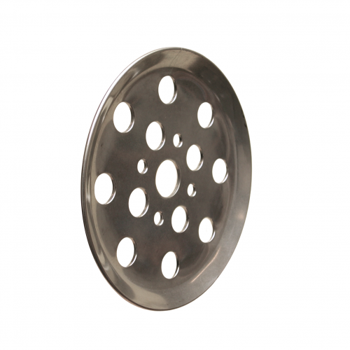 S.S. finger plate 12 holes | PL.10.008