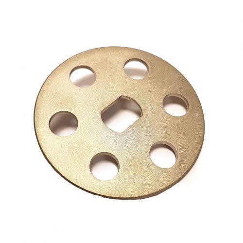 S.S. finger plate 6 holes | PL.10.036