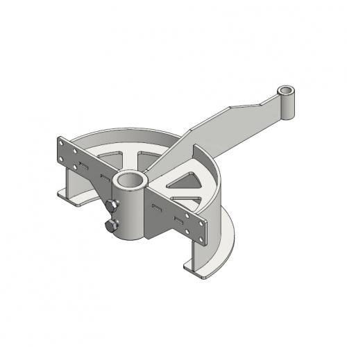 T-track bend frame 180º D=291mm | OC.20.291.180