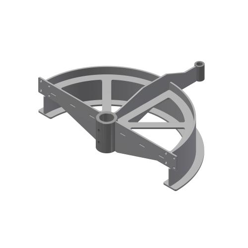 T-track bend frame 180º D=485mm | OC.20.485.180