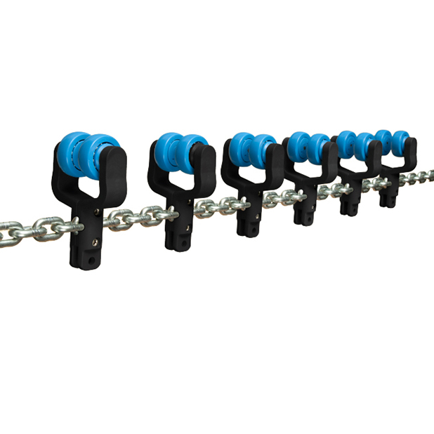 Galv. chain with click trolleys   OC.24.520