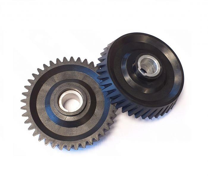 Black conical Gearwheel Z=40 | PL.40.009C