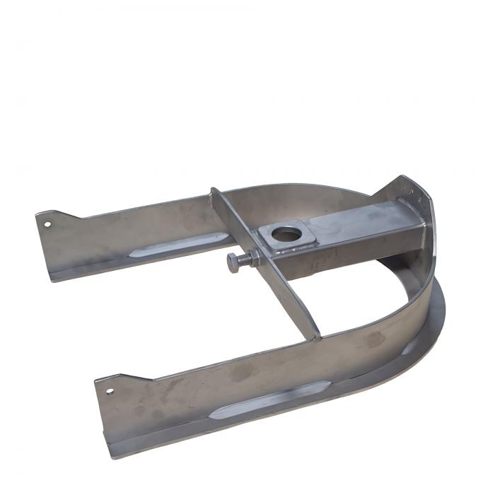 T-track bend 180º D=388mm | OC.10.388.180