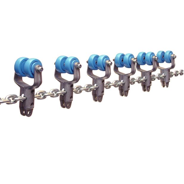 Galv. chain with Alu trolleys | OC.25.520