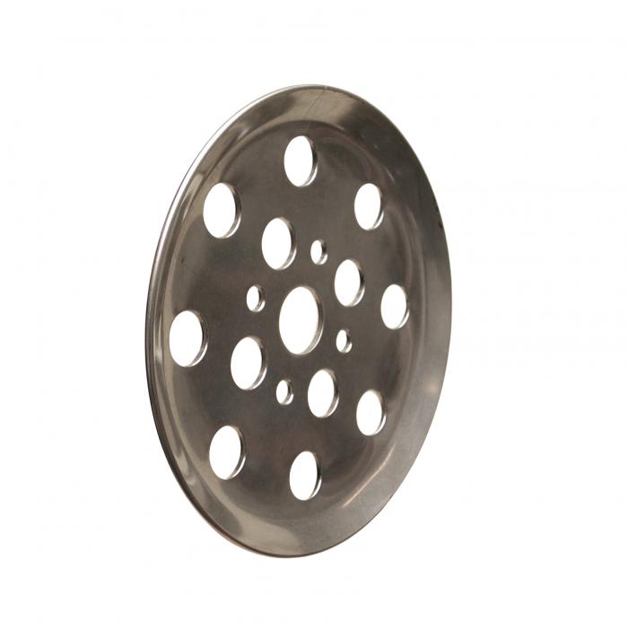 S.S. finger plate 12 holes   PL.10.008