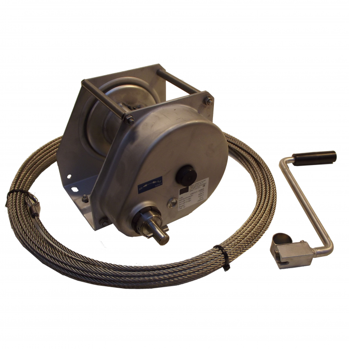 Winch 500 kg. for 6mm. S.S. cable | 1300.4585.0001