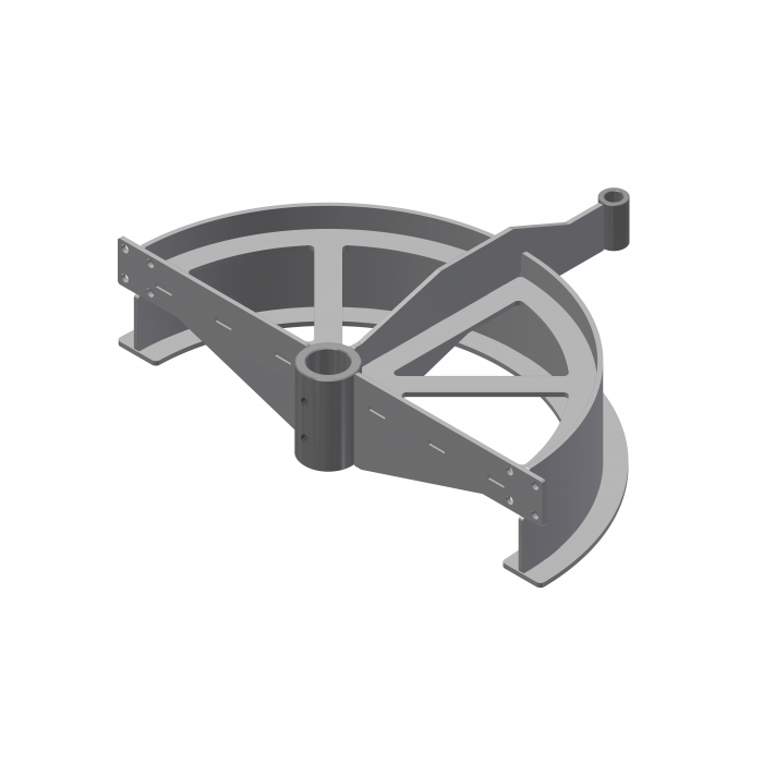 T-track bend frame 180º D=485mm   OC.20.485.180